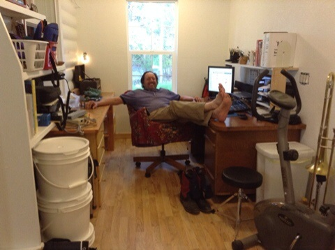 Ted has a new studio . width=