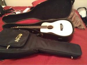 cased guitar